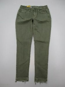 new-MOSSIMO-Jeans-Women-039-s-Size-4-Power-Stretch-Green-Wash-Mid-Rise-Curvy-Skinny