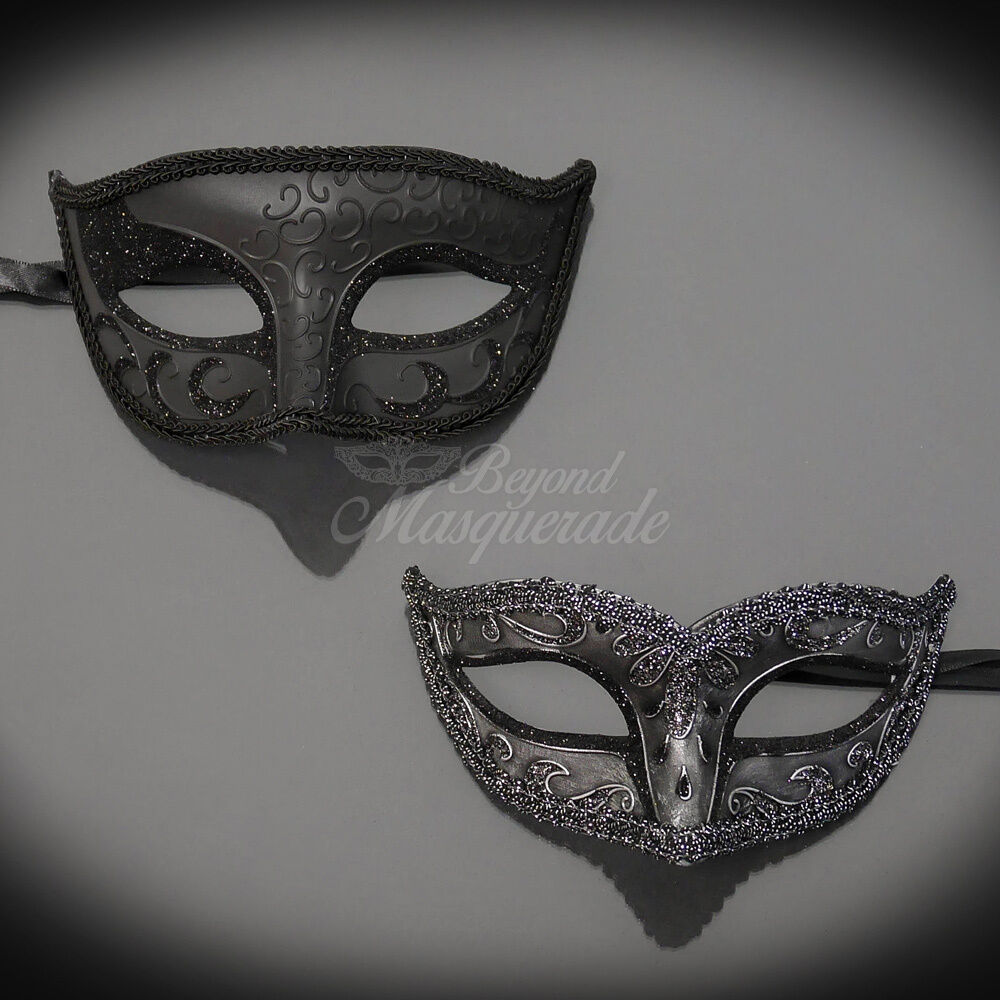 His And Hers Feminine And Masculine Bedrooms That Make A: Couples Masquerade Mask, His & Hers Set, Black Masquerade