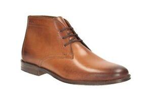 hombre Tamaño 5 Uk9 Tan Boots New Hawkley With Rise Clarks Leather para Box 44 wBzfxZ6qv