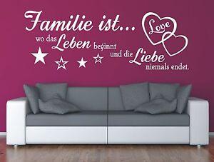 Wandtattoo-Spruch-Familie-wo-Leben-Liebe-Wandsticker-Wandaufkleber-Sticker-2