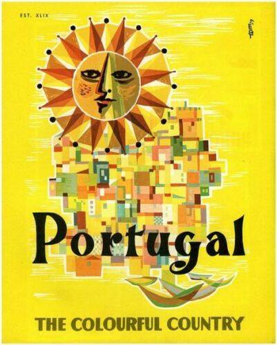 """PORTUGAL THE COLOURFUL COUNTRY Photo Flexible Fridge Magnet 2/""""x 3/"""""""