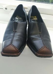 3197d21c3b1e Medicus women Slip On Casual Shoes black tan  NADJA  Size 4 G   eBay