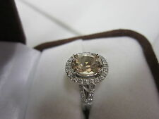 GORGEOUS 14 KT GOLD 2.10 CTW. PEACH PINK MORGANITE & DIAMOND RING !!!!!!!