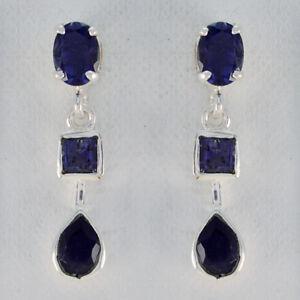 famous-Iolite-925-Sterling-Silber-Blau-Natuerliche-Edelsteine-DE-Geschenk
