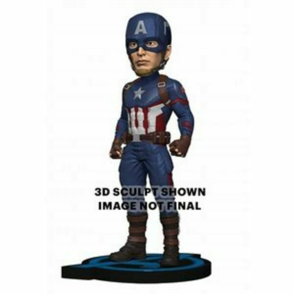 NEW Avengers End Game Captain America Head Knocker NECA Figure from Japan F S
