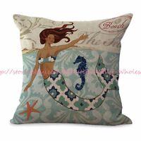 Us Seller-cheap Decorative Pillows For Sofa Mermaid Cushion Cover