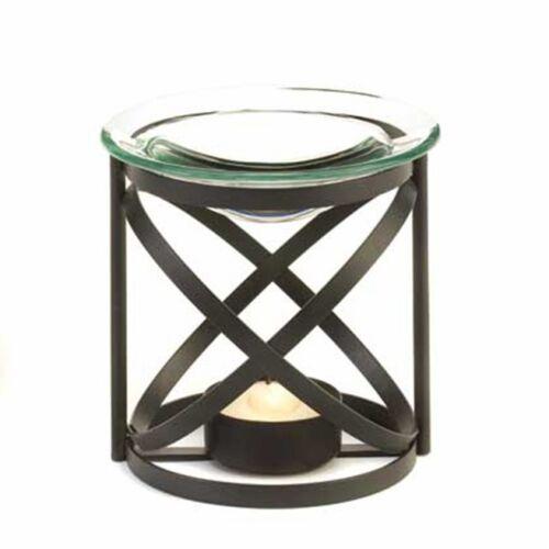 BLACK IRON METAL CANDLE HOLDER OIL BURNER WARMER DIFFUSER FRAGRANCES ESSENTIAL