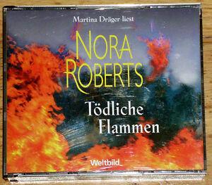Hoerbuch-Toedliche-Flammen-von-Nora-Roberts-5-CD-ca-238-Min