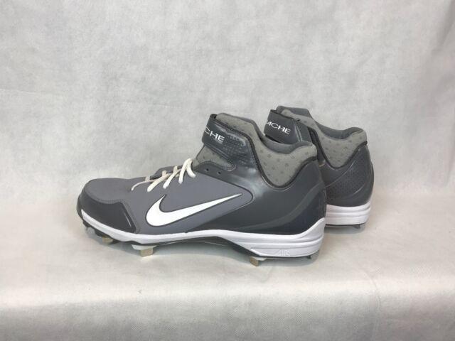 new styles 3d48e 62bec Nike 467796-002 Air Huarache Grey   White Baseball Cleats Men s Size 14  Charity