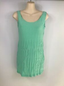 Motto-size-10-NWOT-039-s-mint-green-sleeveless-crushed-look-stretchy-top