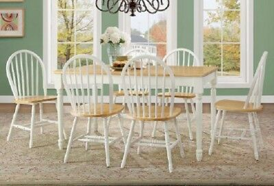 Awesome Dining Table Set 6 Person Wood Farmhouse Rustic Country Kitchen Chairs Room Oak Pdpeps Interior Chair Design Pdpepsorg