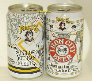 BASEBALL PITTSBURGH PIRATES TRADITION+TICK<wbr/>ET BEER CANS IRON CITY SPORTS HISTORY
