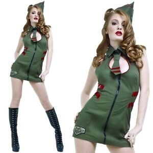 NWT-70-SEXY-MAJOR-MAYHEM-1940s-ARMY-PIN-UP-GIRL-Halloween-costume-S-small