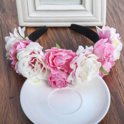 Frau Mädchen Blume Stirnbänder Krone  Blume Haarkranz Girlande für Festival