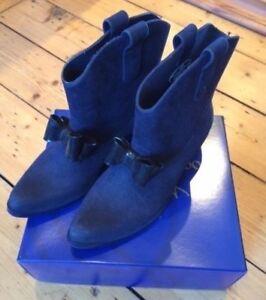 BNIB Vivienne Westwood x Melissa Women's Navy Ankle Rain Boots Sz 41 / 8 £150
