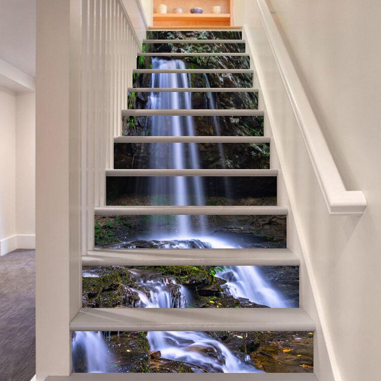 3D Gießen Fluss 476 Stair Risers Dekoration Fototapete Vinyl Aufkleber Tapete DE