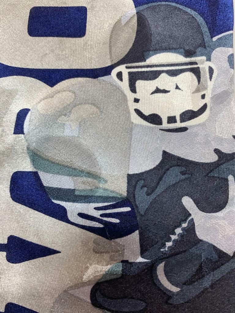 Team NFL Cowboys Spieler Blau Grau Seidenkrawatte Krawatte MAP1521B #R26