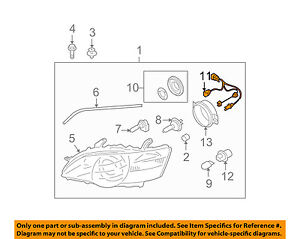 SUBARU OEM 05-07 Outback Headlamp-Front Lamps-Wire Harness 84981AG070 | eBayeBay