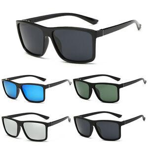 16b57c308 Image is loading New-Black-Square-Frame-Polarized-Sunglasses-Driving-Mens-