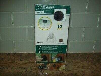 Black 10 per Pack OZCO 56621 1-1//2-inch Hex Cap Nut