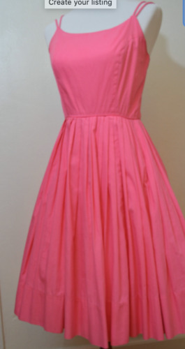 Vintage 50s pink cotton sundress