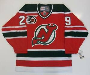 MARTIN BRODEUR NEW JERSEY DEVILS 1991 NHL 75TH PATCH ROOKIE CCM ... 619177398