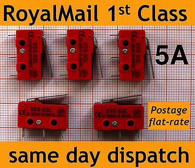 5x 5A micro switch LEVIER V4 microswitch kw11i imprimante 3d endstop 5gl heavy duty