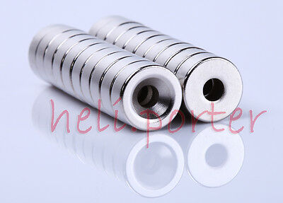 12mm x 5mm:4mm Hole Cylinder Earth Neodymium Super strong Magnet Craft Model