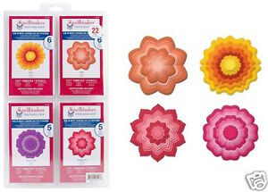Spellbinders Nestabilities BLOSSOM TWO, THREE, PEONY, DAHLIA - 4 SETS 25 FLOWERS