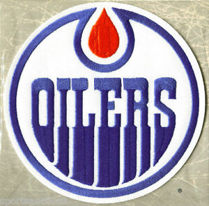 1984 EDMONTON OILERS ~ Willabee & Ward NHL THROWBACK HOCKEY TEAM PATCH Stat Card