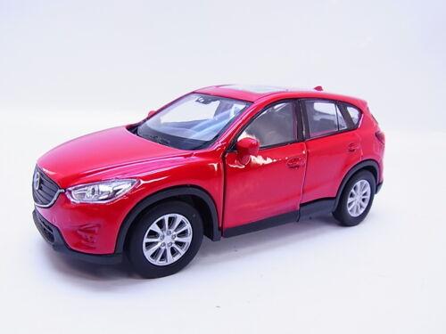 Lot 47693Welly fuoristrada Mazda cx-5 feature 2011-2015 modello di auto rosso 1:40 NUOVO