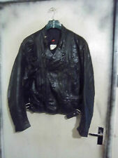 VINTAGE 80'S BRISTOL LEATHER TWIN TRACK MOTORCYCLE JACKET SIZE M-L
