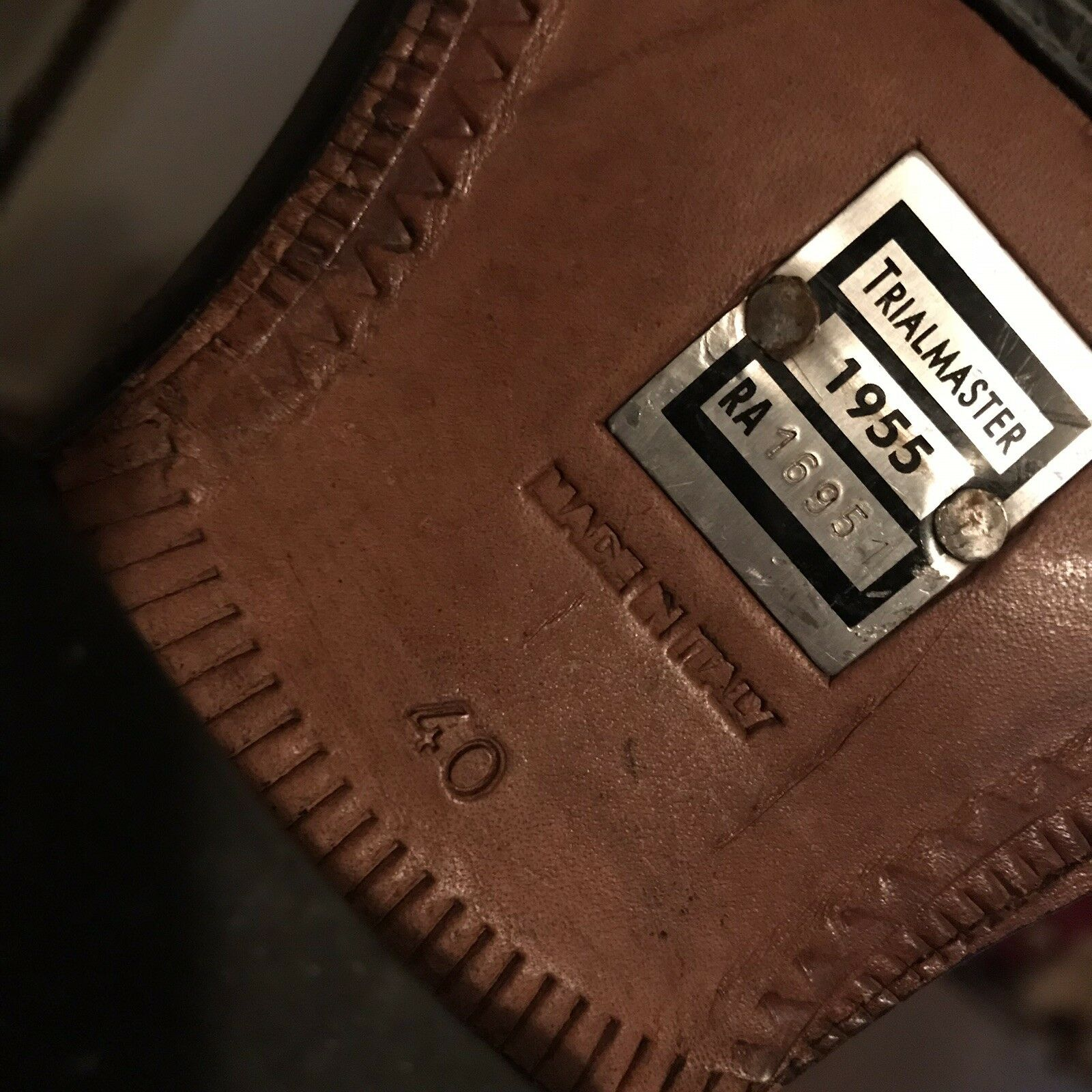 Belstaff TRIALMASTER Braun  9.5 Leder Stiefel Size 40 9 9.5  10 2aa277