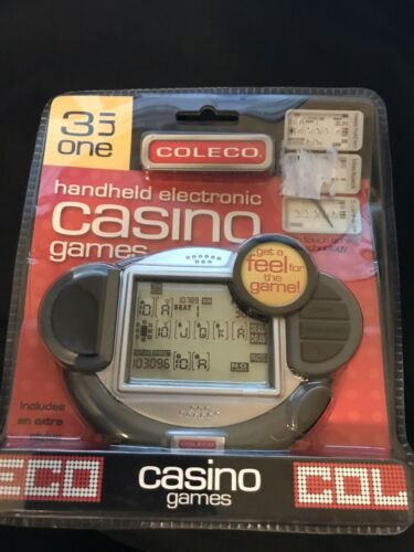 COLECO Model #41003 3 in 1 CASINO GAMES Touchscreen Handheld Game 2006 NIP