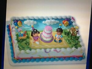 Awe Inspiring Cake Topper Dora Birthday Celebration Decopac For Sale Online Birthday Cards Printable Nowaargucafe Filternl