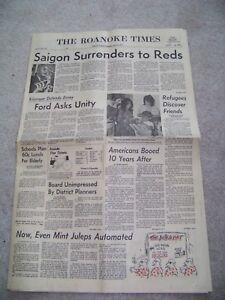 Details about April 30 1975 The Roanoke Times Jeff Pott Roger Dillon Walter  Williams