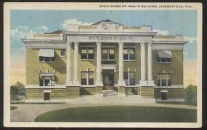 Postcard-JACKSONVILLE-Florida-FL-State-Board-of-Health-Building-view-1910-039-s