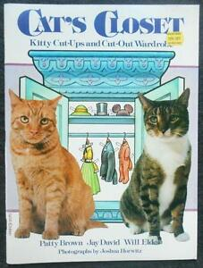 "Un-Cut Paper Doll Book - ""Cat's Closet"" - Simon & Schuster - 1982"