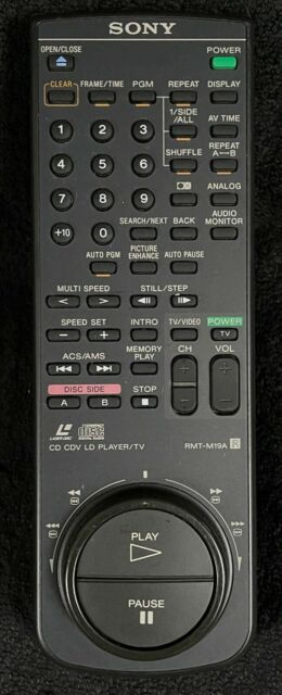 RARE USED SONY RMT-M19A Remote for Laserdisc players MDP-550 / MDP-600