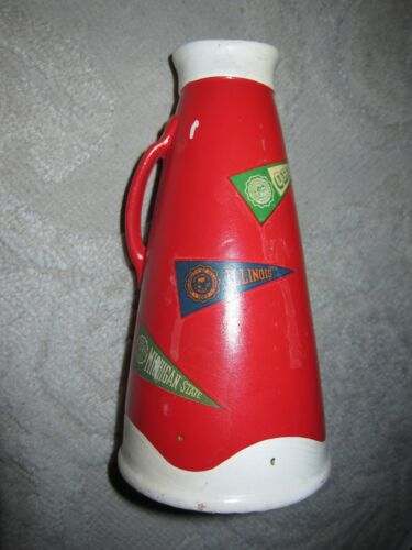 Japan made by dabs Vintage red megaphone college cheerleading still bank