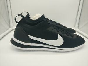 super popular e3fec aa68a Image is loading Nike-Cortez-Flyknit-UK-7-Black-White-AA2029-