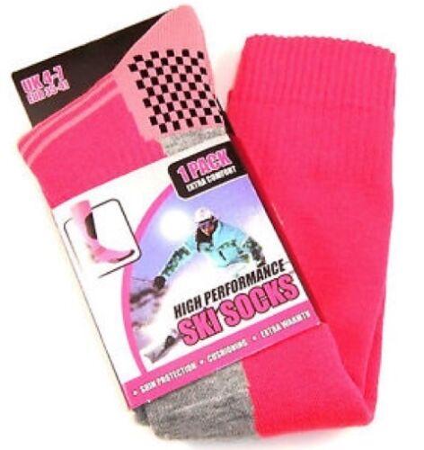 Ladies   long high performance ski snowboarding hiking walking socks