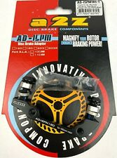 A2Z Disc Brake Adapter AD-ISPM 180mm BLACK NEW FREE POSTAGE