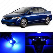 6 x Blue LED Lights Interior Package For Honda CIVIC Coupe & Sedan 2006-2012
