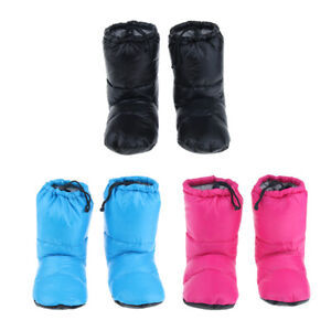 White Goose Down Slippers Winter Warm Camping Tent Foot ...