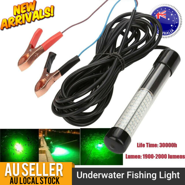 180 LED Underwater Fishing Light Boat Squid Fish Prawn IP68 Waterproof 12V AUS