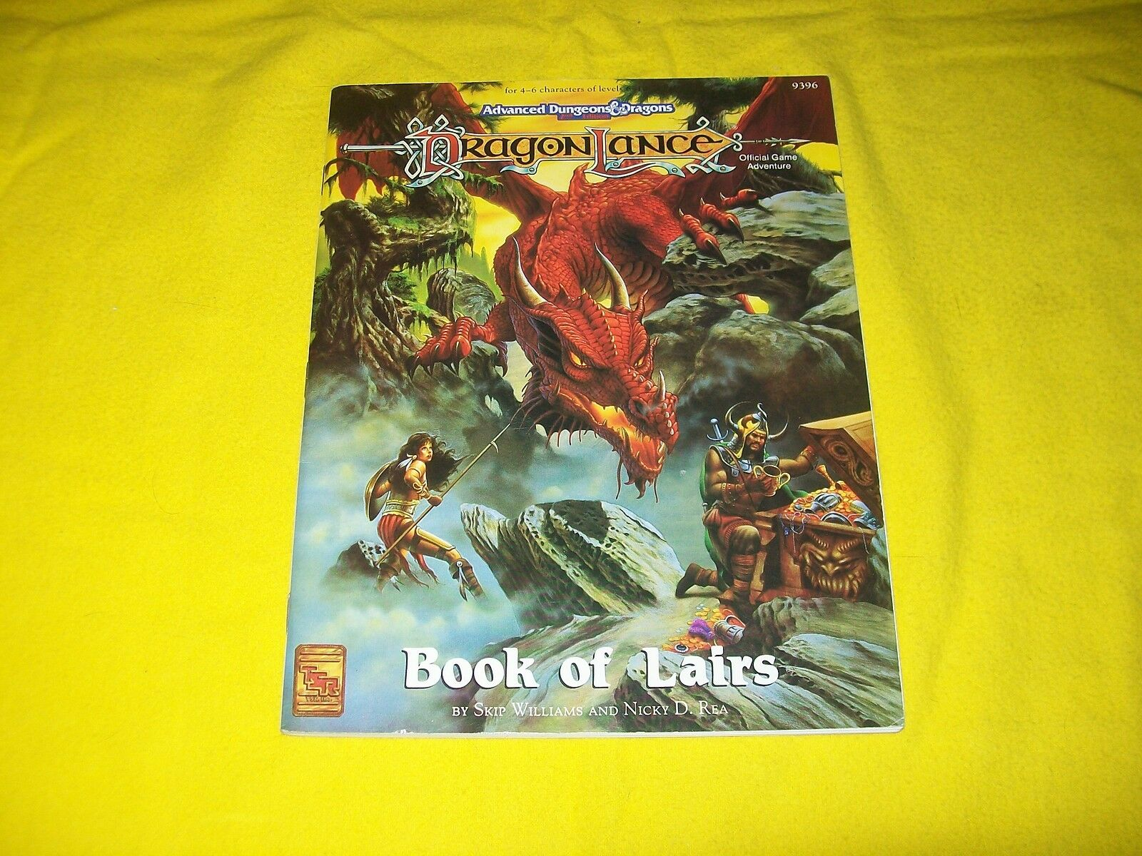 BOOK OF LAIRS DRAGONLANCE DUNGEONS & DRAGONS AD&D 2ND EDITION TSR 9396 - 1