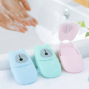 50Pcs-Disposable-Boxed-Soap-Paper-Portable-Travel-Hand-Washing-Scented-Sheets