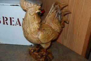 Carved Wood Rooster Large! Estate Find!!