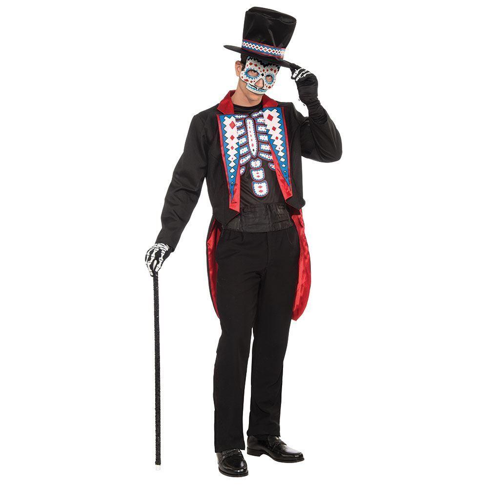 DAY OF THE DEAD LONG LONG LONG TAIL SUIT, HALLOWEEN FANCY DRESS COSTUME, CHEST 42  DE | Klein und fein  e65082